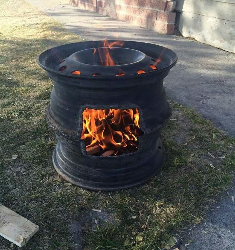 Redneck Car Rim BBQ