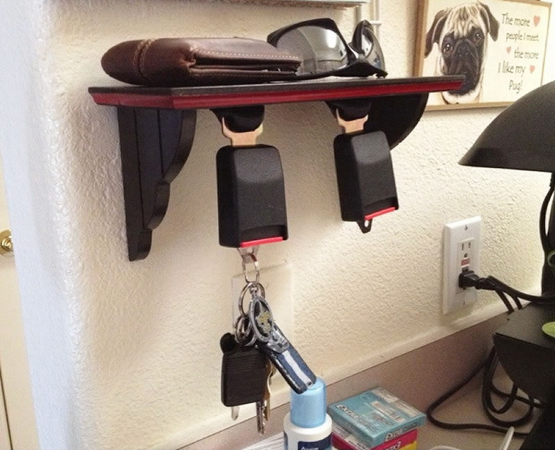 Seat Belt Key Holder