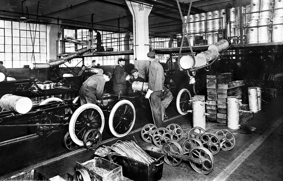 December 1, 1913: Henry Ford Introduces The First Moving Assembly Line