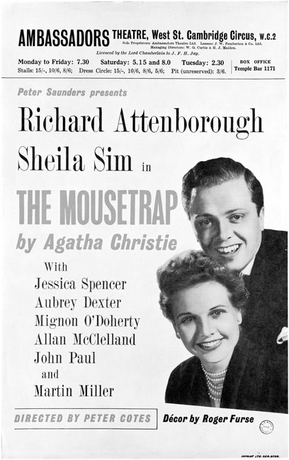 November 25, 1952: The Mousetrap Opens On The West End