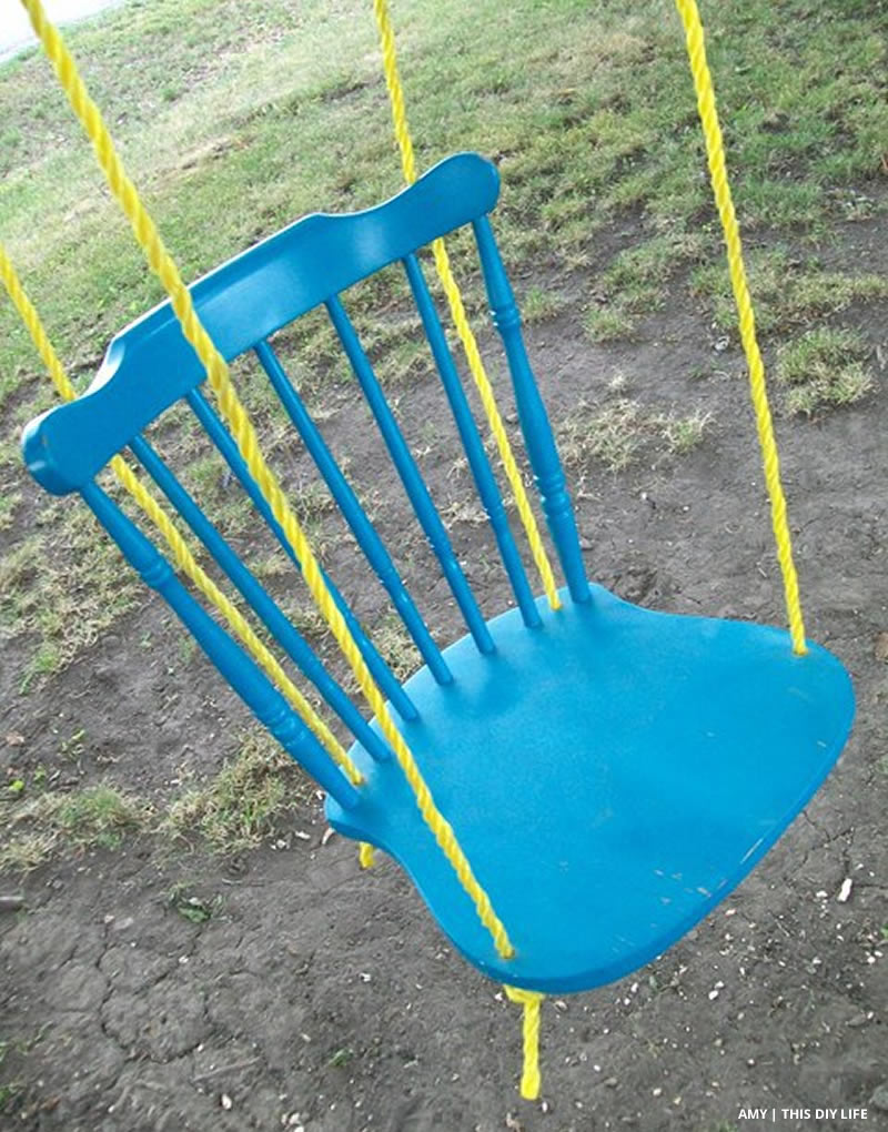 Turn an Old Chair into a Beautiful Swing