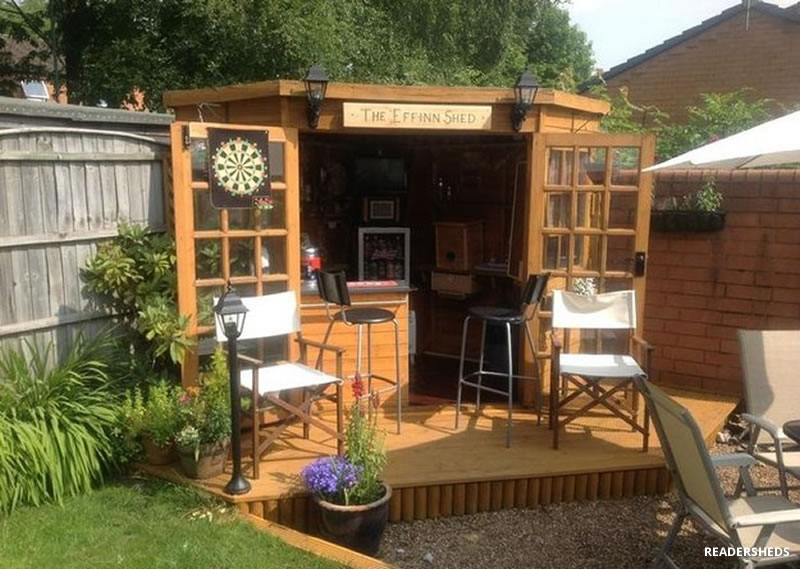 Transform Your Storage Shed into Your Own Private Bar