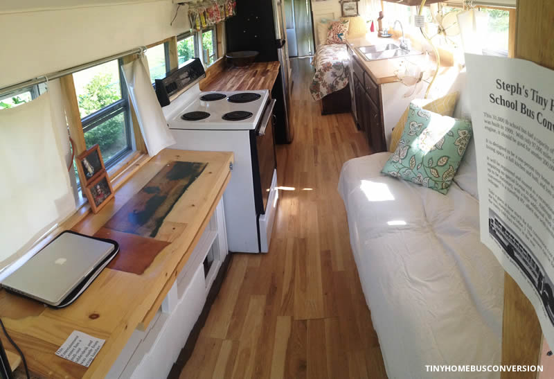 A Lot of Work & A Lot of Friends Convert a $2K Bus into a Tiny Home