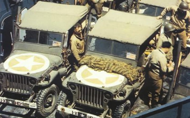 Invasion Star Painted on WWII Jeeps Protected Soldiers' Lives