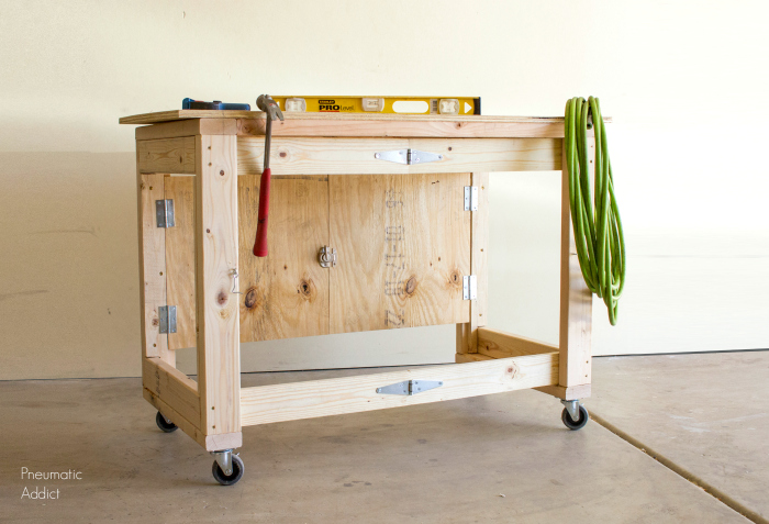 Folding Workbench for Space-challenged Shops