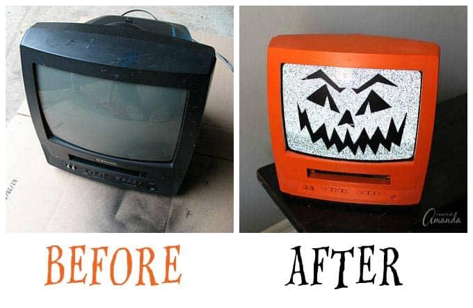 Spooky Jack-O-Lantern TV