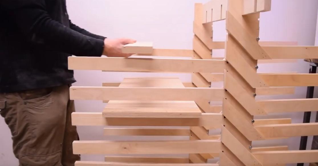 Folding Wooden Drying Rack